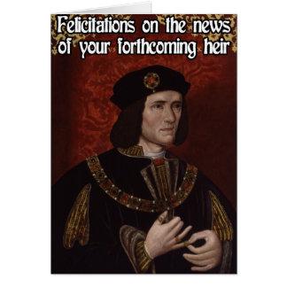 Richard III Pregnancy Congratulations Card
