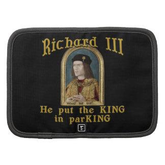 Richard III Put the King in ParKING tshirt Folio Planner