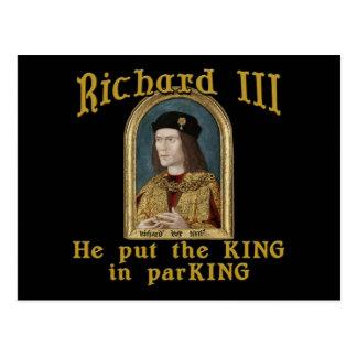 Richard III Put the King in ParKING tshirt Postcards