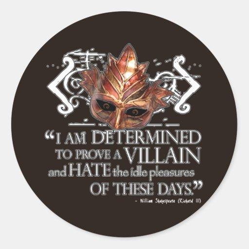 Richard III Quote Classic Round Sticker