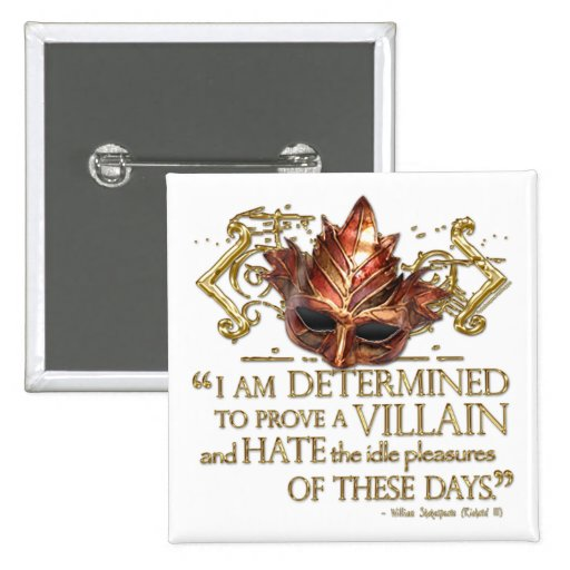 Richard III Quote (Gold Version) 2 Inch Square Button