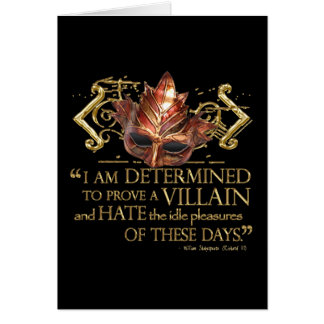 Richard III Quote (Gold Version) Card