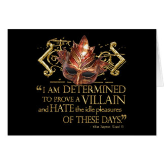 Richard III Quote (Gold Version) Greeting Cards