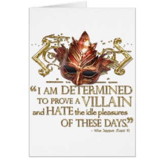 Richard III Quote (Gold Version) Greeting Card