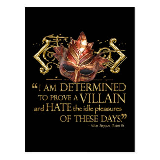 Richard III Quote (Gold Version) Post Cards