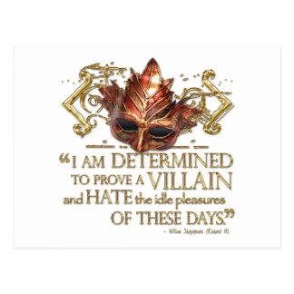 Richard III Quote (Gold Version) Postcard