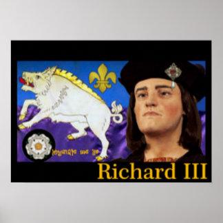 Richard III y su emblema blanco del verraco Póster