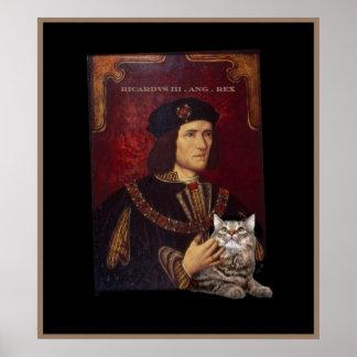 Richard III y su gato Posters