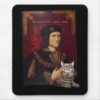 Richard III y su gato Tapetes De Ratón