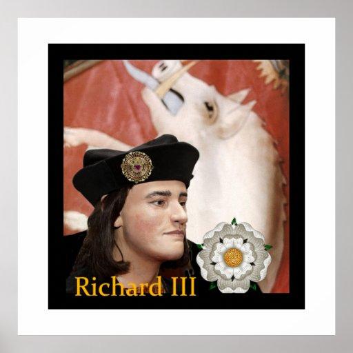 Richard III y su insignia blanca del verraco Póster