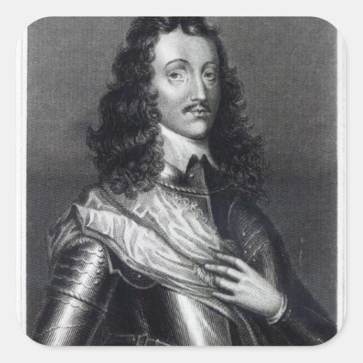 Richard Lovelace Calcomanias Cuadradas