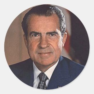 Richard M. Nixon 37 Classic Round Sticker