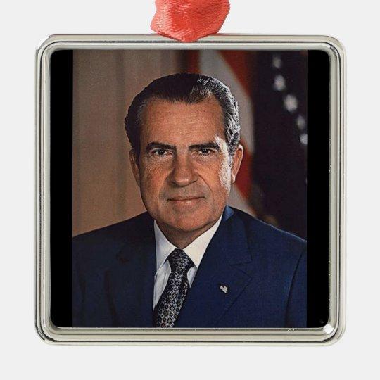 Richard M. Nixon 37th President Metal Ornament