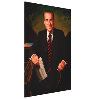 RICHARD M. NIXON by James Anthony Wills Canvas Print