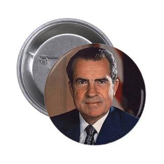 Richard M. Nixon Pin Redondo 5 Cm