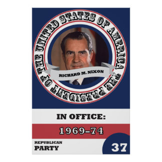 Richard M. Nixon Presidential History Retro Poster