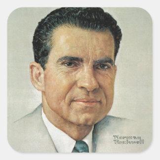 Richard Milhouse Nixon Square Sticker