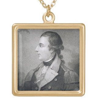 Richard Montgomery (1736-75) engraved by E. Macken Square Pendant Necklace