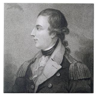Richard Montgomery (1736-75) grabada por E. Macken Azulejo Cuadrado Grande