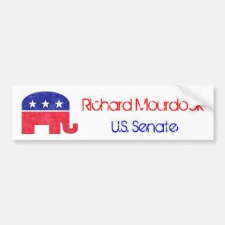 Richard Mourdock for Senate Bumper Sticker Car Bumper Sticker
