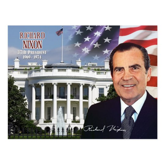 Richard Nixon -  37th President of the U.S. Postcard