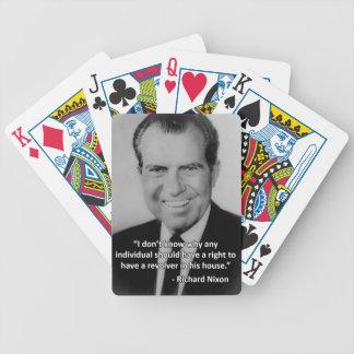 Richard Nixon Anti-Gun Playing Cards