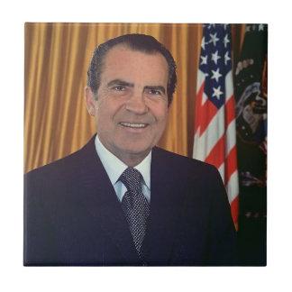 Richard Nixon Azulejo Cuadrado Pequeño