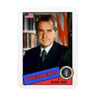 Richard Nixon Baseball Card Magnet