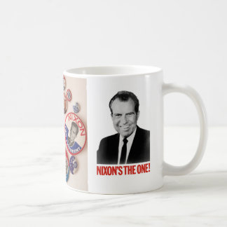 Richard Nixon Button Collector Mug