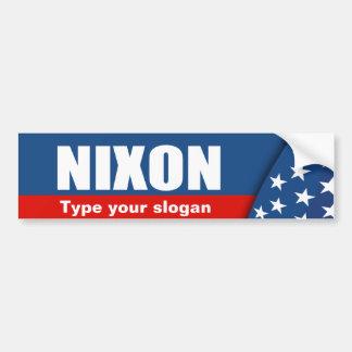 RICHARD NIXON Election Gear Car Bumper Sticker