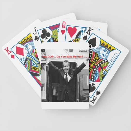 "Richard Nixon ""Miss Me Yet?"" Funny Gifts & Tees Bicycle Playing Cards"