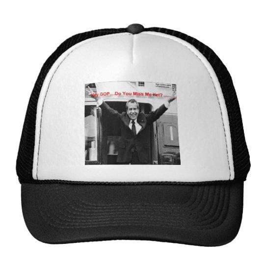 "Richard Nixon ""Miss Me Yet?"" Funny Gifts & Tees Trucker Hat"