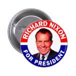 Richard Nixon para el presidente Pins
