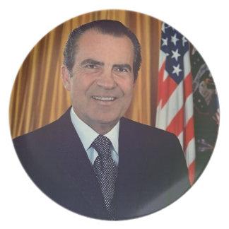 Richard Nixon Plato De Comida