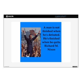 """Richard Nixon quote 15"""" Laptop Decals"""