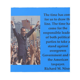 Richard Nixon quote Notepad