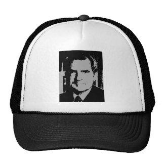 Richard Nixon silhouette Mesh Hat