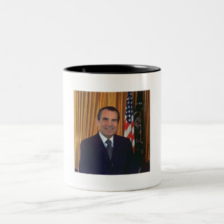 Richard Nixon Two-Tone Coffee Mug