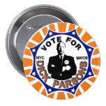 Richard Parsons for NYC Mayor 2013 3 Inch Round Button