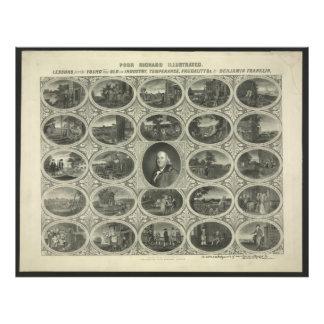 Richard pobre ilustrado por Benjamin Franklin 1887 Cojinete