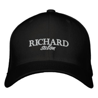 Richard Salon Embroidered Fitted Cap Baseball Cap