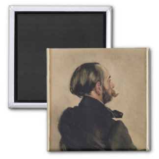 Richard, the Brother of the Artist, 1860 2 Inch Square Magnet