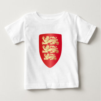 Richard the Lion Heart Shield in red+faux gold Baby T-Shirt