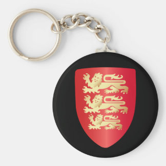 Richard the Lion Heart Shield in red+faux gold Basic Round Button Keychain