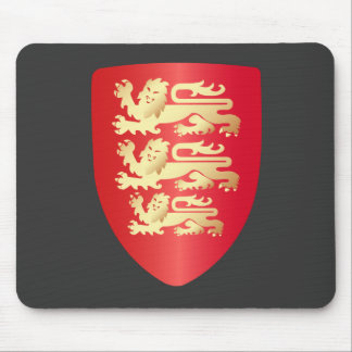 Richard the Lion Heart Shield in red+faux gold Mouse Pads
