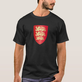 Richard the Lion Heart Shield in red+faux gold T-Shirt