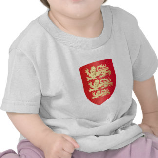 Richard the Lion Heart Shield in red+faux gold Tee Shirts