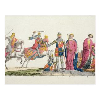 Richard the Lionheart, John of Gaunt, Edward III, Postcard