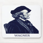 Richard Wagner, azul Alfombrillas De Raton