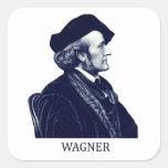 Richard Wagner, azul Calcomanía Cuadradas Personalizada